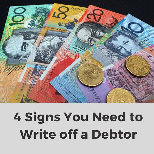 4 signs need write off debtor