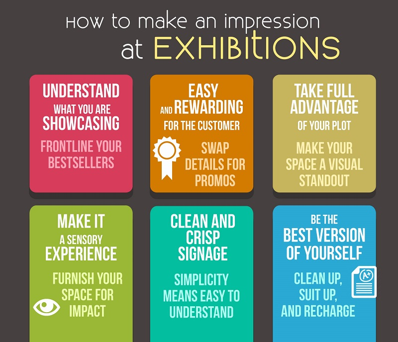 how to make impressions in a Exhibition