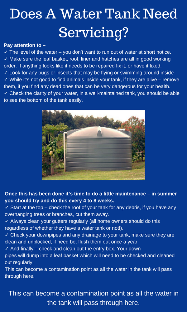 Does A Sydney Water Tank Need Servicing