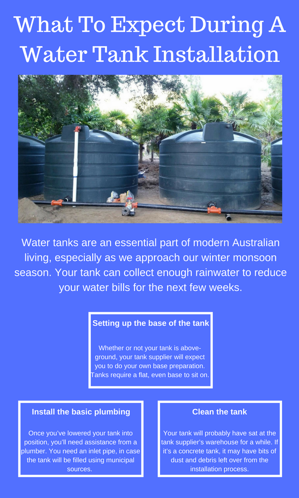What To Expect During A Water Tank Installation Australia