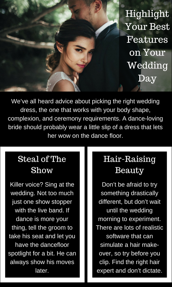 Highlight Your Best Features on Your Wedding Day Sydney