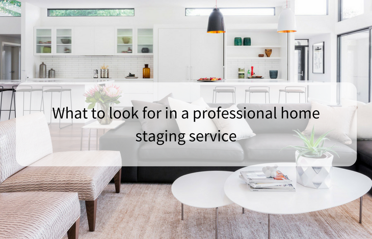 What to look for in a professional home staging service