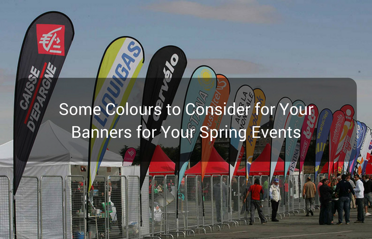 Some Colours to Consider for Your Banners for Your Spring Events