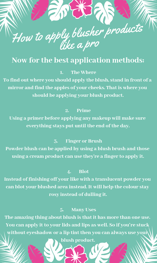 How to Apply Blusher Makeup Products Like A Pro